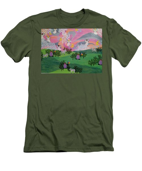 Almost Heaven Men's T-Shirt (Slim Fit) by Erika Chamberlin