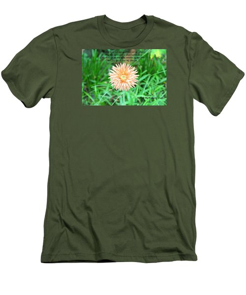 Men's T-Shirt (Slim Fit) featuring the photograph Alone And Standing by Lorna Maza