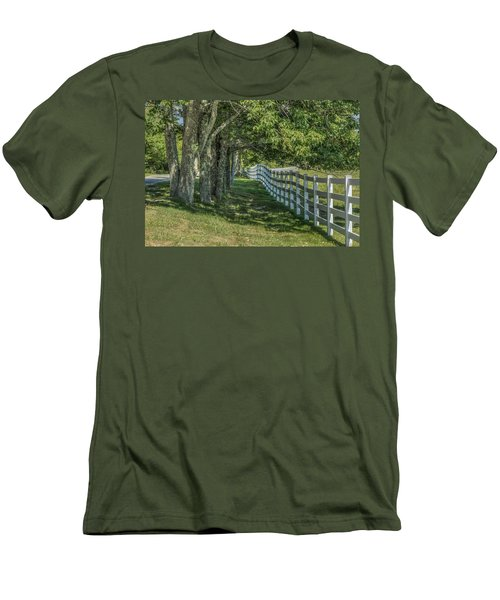 Men's T-Shirt (Slim Fit) featuring the photograph Along A Country Road by Jane Luxton