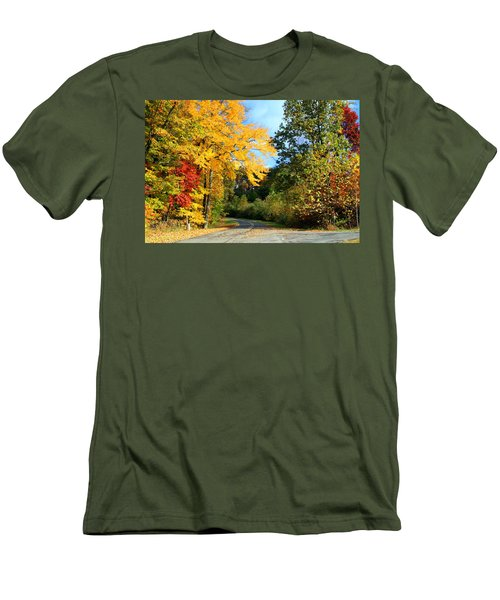 Men's T-Shirt (Slim Fit) featuring the photograph Along The Road 2 by Kathryn Meyer