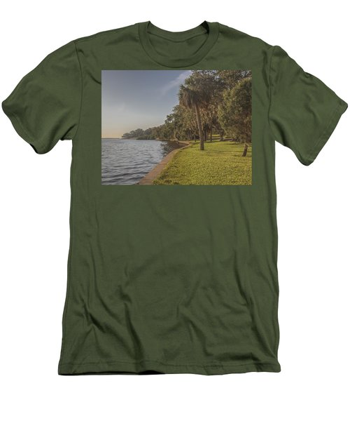 Men's T-Shirt (Slim Fit) featuring the photograph Along The Wall by Jane Luxton