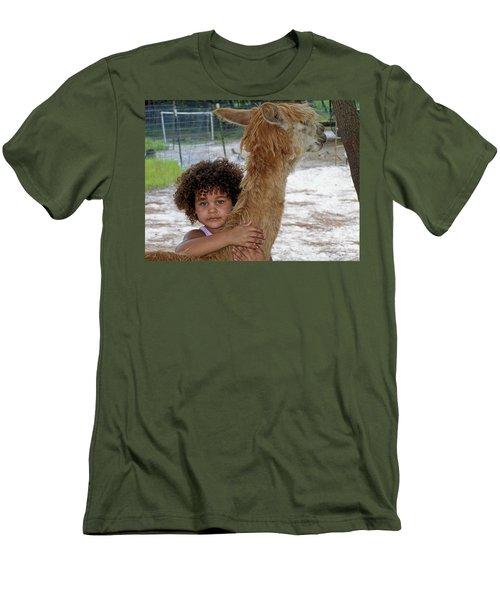 Alpaca Love Men's T-Shirt (Athletic Fit)