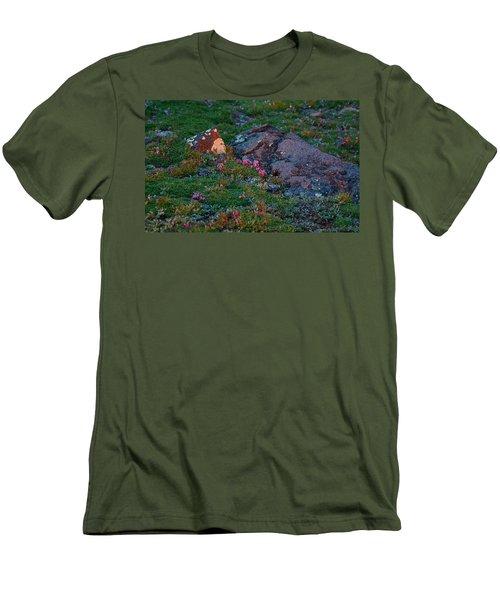 Men's T-Shirt (Slim Fit) featuring the photograph Alpine Blush by Jim Garrison