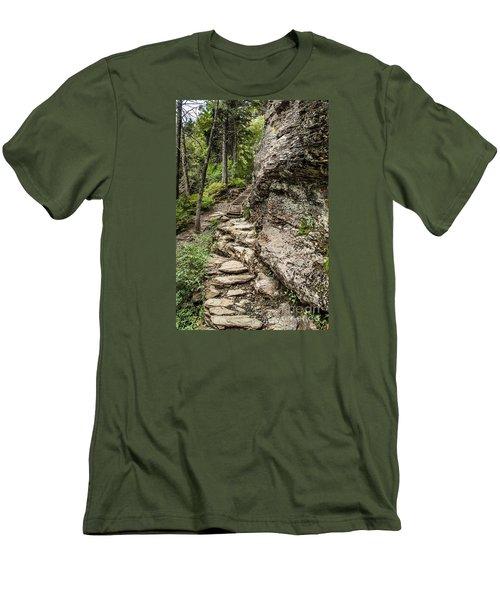 Alum Cave Trail Men's T-Shirt (Athletic Fit)