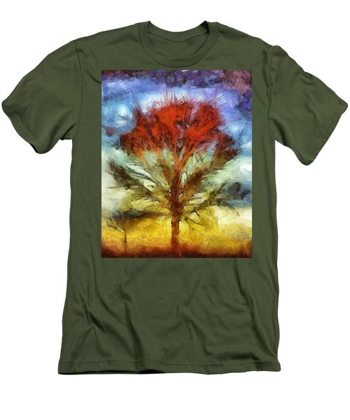Men's T-Shirt (Slim Fit) featuring the drawing Always Reaching Up by Joe Misrasi