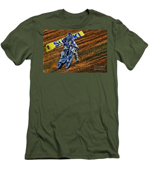 Ama 450sx Supercross Jason Anderson Men's T-Shirt (Athletic Fit)