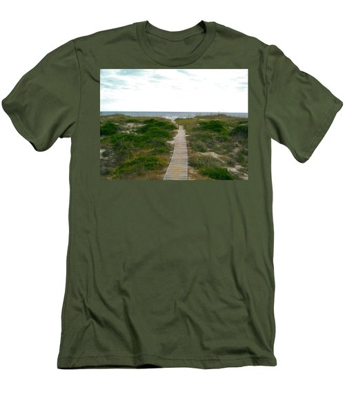 Amelia Island Beach Men's T-Shirt (Athletic Fit)