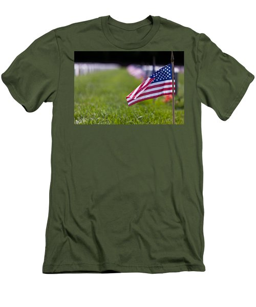 Men's T-Shirt (Slim Fit) featuring the photograph American Flag by Jerry Gammon