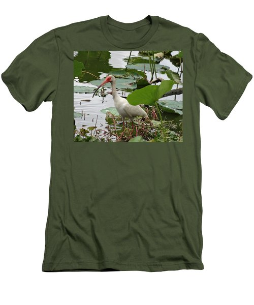 American White Ibis In Brazos Bend Men's T-Shirt (Slim Fit) by Dan Sproul