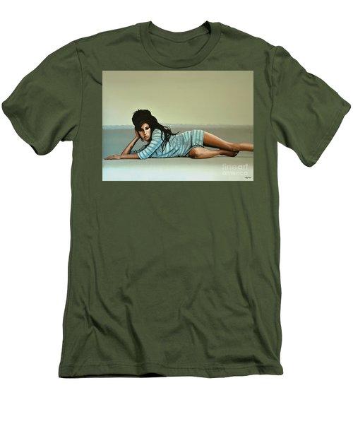 Amy Winehouse 2 Men's T-Shirt (Slim Fit) by Paul Meijering