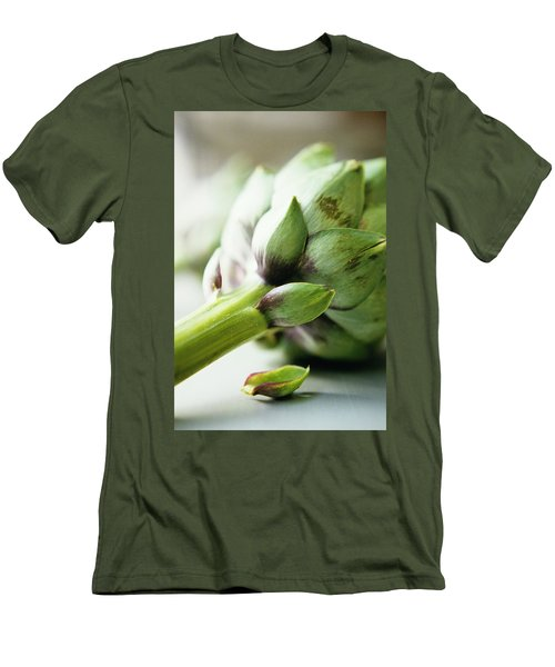 An Artichoke Men's T-Shirt (Slim Fit) by Romulo Yanes