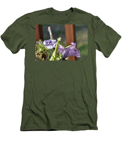 Men's T-Shirt (Slim Fit) featuring the photograph An Autumn Surprise by Verana Stark