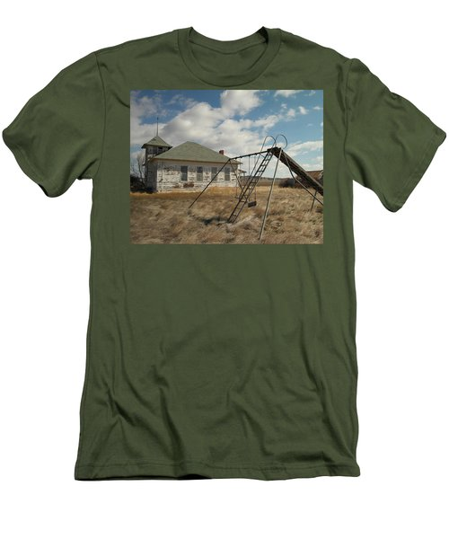 An Old School Near Miles City Montana Men's T-Shirt (Athletic Fit)