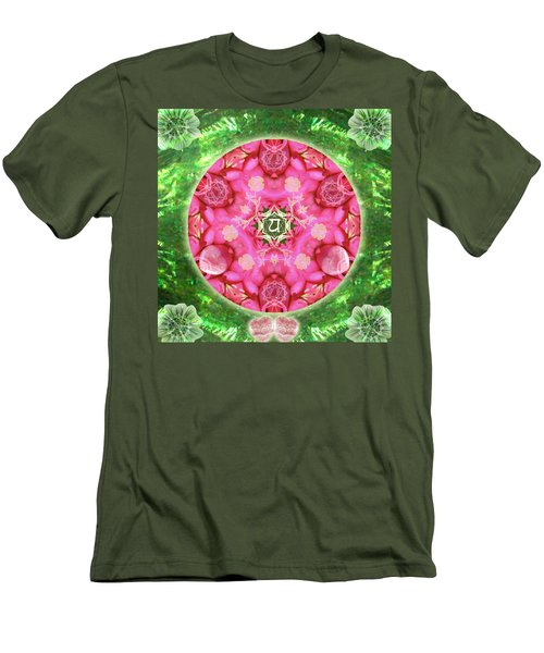 Anahata Rose Men's T-Shirt (Athletic Fit)