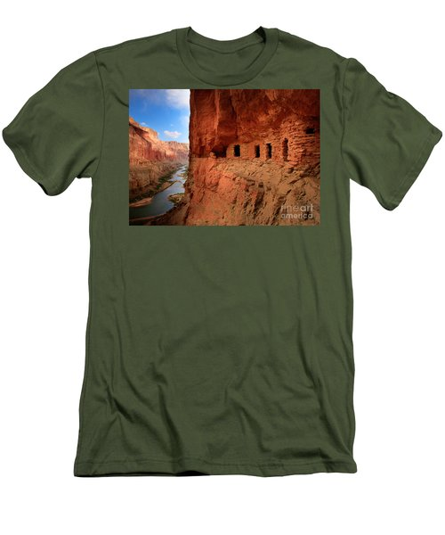 Anasazi Granaries Men's T-Shirt (Slim Fit) by Inge Johnsson