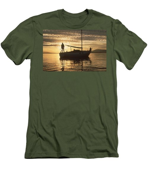 Anchored Men's T-Shirt (Slim Fit) by Mark Alan Perry