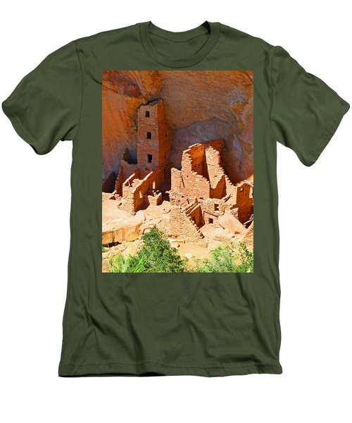 Ancient Dwelling Men's T-Shirt (Slim Fit) by Alan Socolik