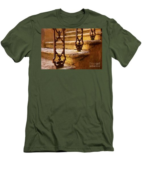 Ancient Steps Men's T-Shirt (Slim Fit) by Brian Jannsen