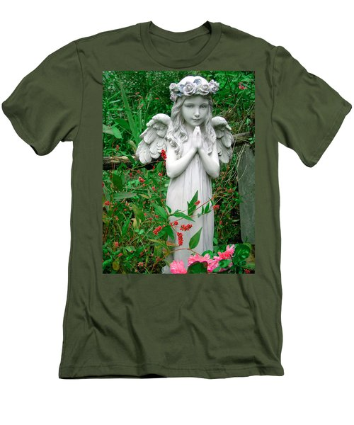 Men's T-Shirt (Slim Fit) featuring the photograph Angel by Aimee L Maher Photography and Art Visit ALMGallerydotcom