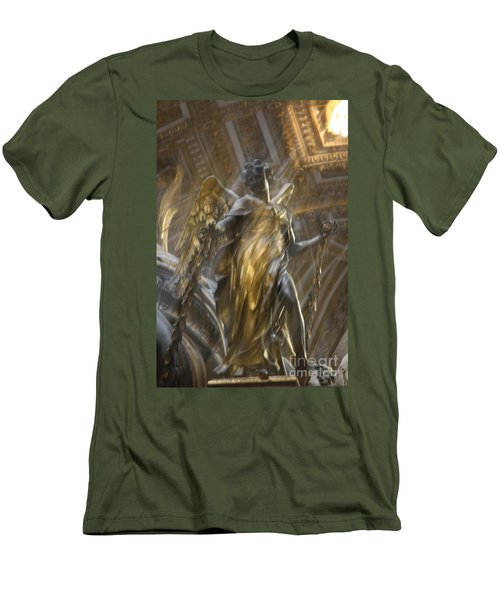 Angel In Motion Men's T-Shirt (Slim Fit) by Mary-Lee Sanders