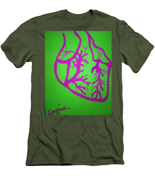 Men's T-Shirt (Slim Fit) featuring the digital art Angina by Erika Chamberlin