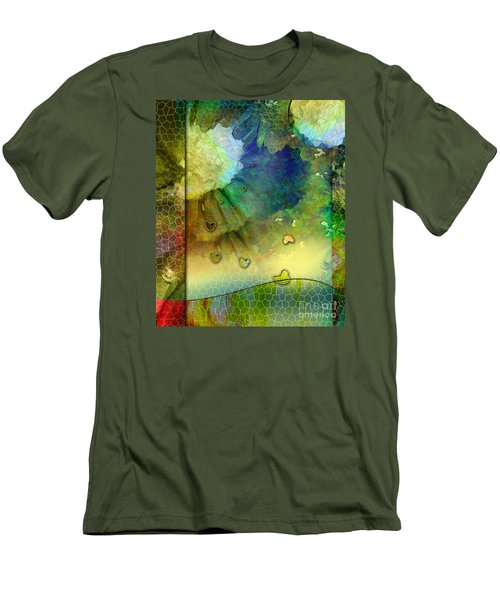 Men's T-Shirt (Slim Fit) featuring the painting Angiospermae by Allison Ashton