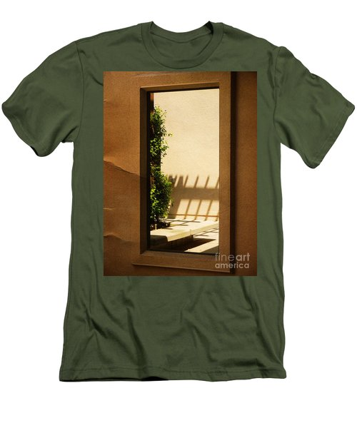 Angled Reflections2 Men's T-Shirt (Slim Fit) by Meghan at FireBonnet Art