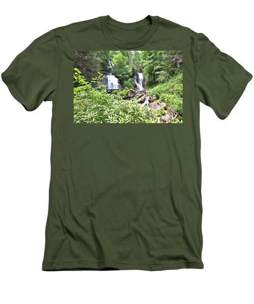 Anna Ruby Falls - Georgia - 1 Men's T-Shirt (Athletic Fit)