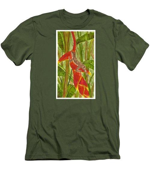 Anolis Humilis Men's T-Shirt (Slim Fit) by Cindy Hitchcock