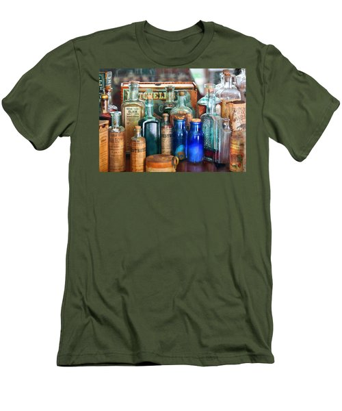 Apothecary - Remedies For The Fits Men's T-Shirt (Slim Fit) by Mike Savad