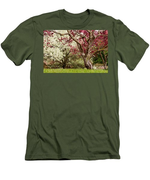 Apple Blossom Colors Men's T-Shirt (Athletic Fit)