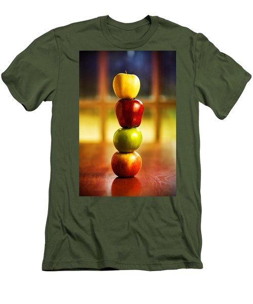 Apple Stack Men's T-Shirt (Athletic Fit)