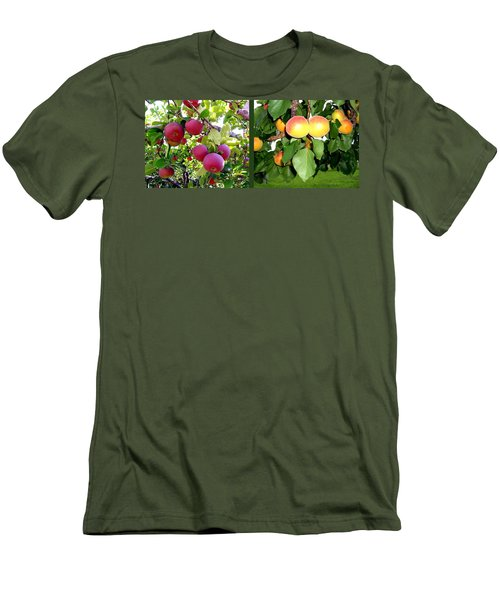 Men's T-Shirt (Athletic Fit) featuring the photograph Apples And Apricots by Will Borden