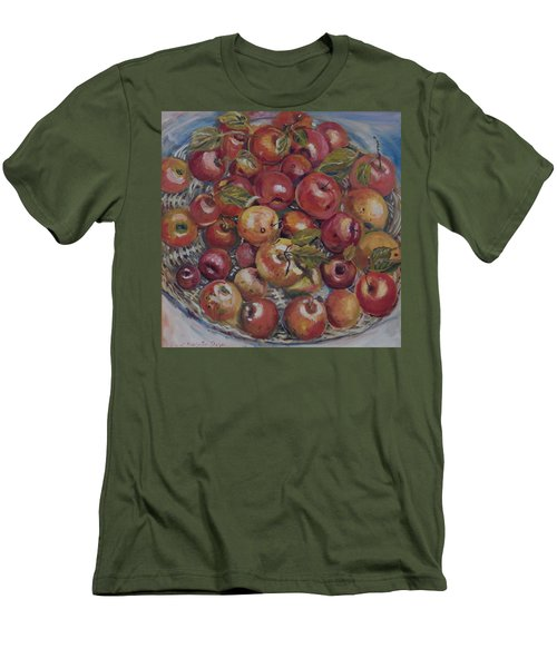 Apples Men's T-Shirt (Slim Fit) by Alexandra Maria Ethlyn Cheshire