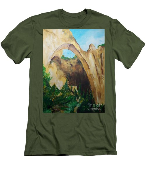 Men's T-Shirt (Slim Fit) featuring the painting Arch by Eric  Schiabor