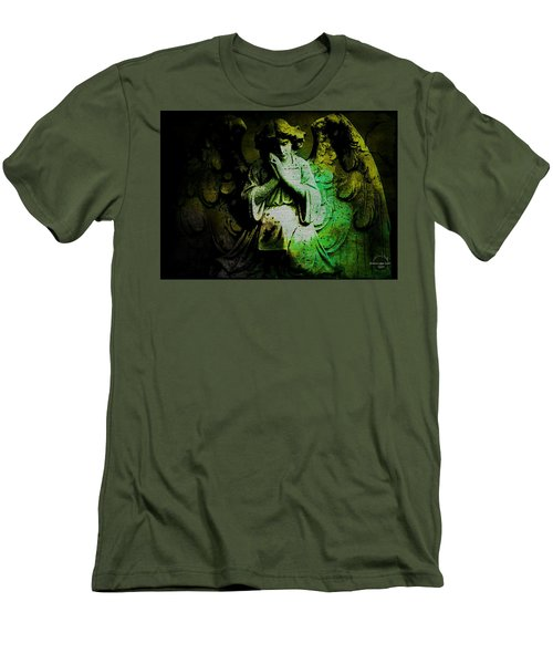 Archangel Uriel Men's T-Shirt (Slim Fit) by Absinthe Art By Michelle LeAnn Scott