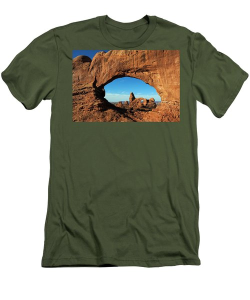 Men's T-Shirt (Slim Fit) featuring the photograph Arches National Park 61 by Jeff Brunton