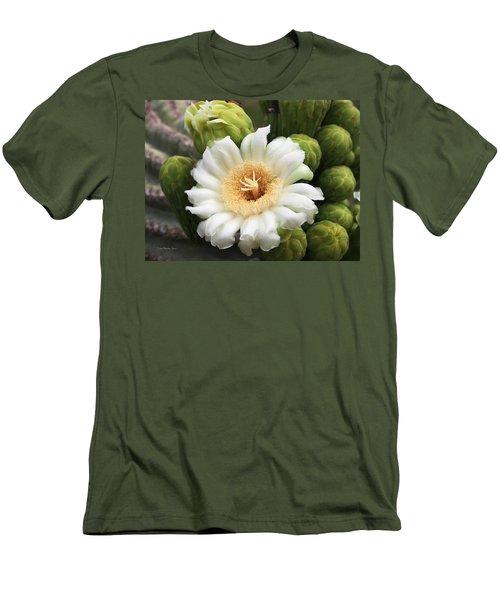 Arizona State Flower The Saguaro Blossom Men's T-Shirt (Athletic Fit)