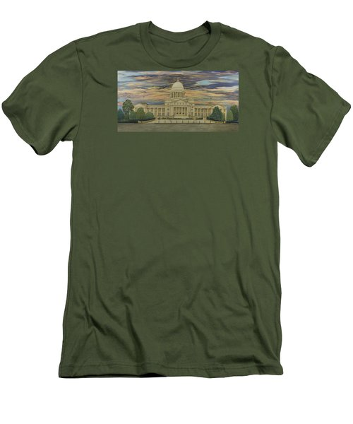 Arkansas State Capitol Men's T-Shirt (Athletic Fit)