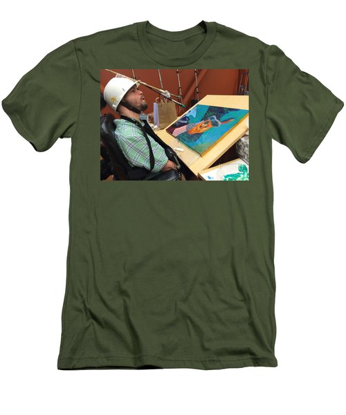 Artist Working Men's T-Shirt (Athletic Fit)