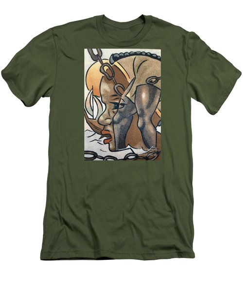 Men's T-Shirt (Slim Fit) featuring the photograph Artists Of Oasis  by Fania Simon