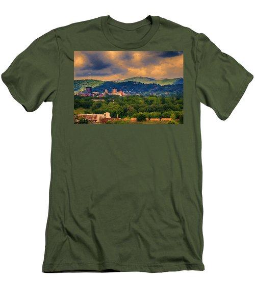 Asheville North Carolina Men's T-Shirt (Slim Fit) by John Haldane