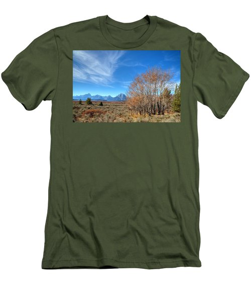 Men's T-Shirt (Slim Fit) featuring the photograph Aspen Last Stand  by David Andersen