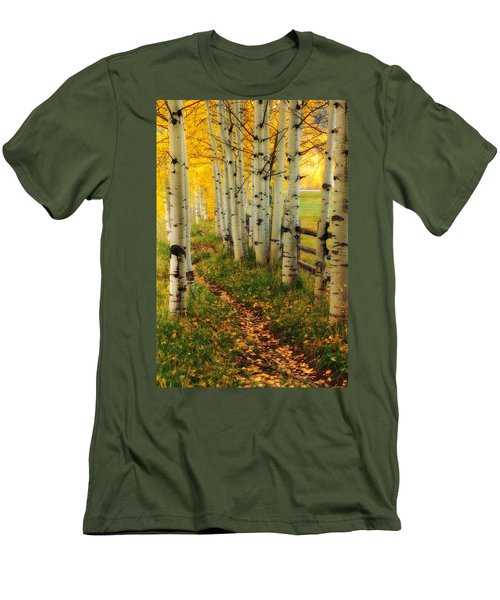 Men's T-Shirt (Slim Fit) featuring the photograph Aspen Path by Ronda Kimbrow