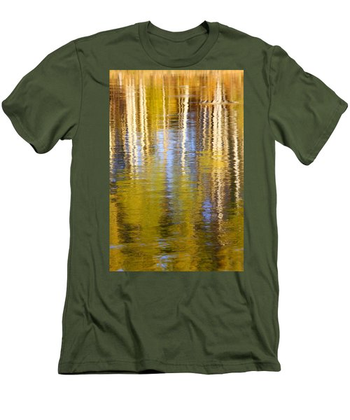 Men's T-Shirt (Slim Fit) featuring the photograph Aspen Reflection by Kevin Desrosiers
