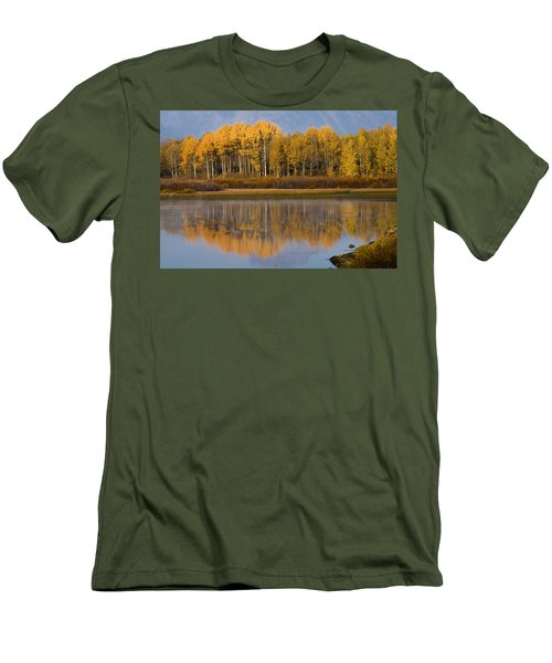 Men's T-Shirt (Slim Fit) featuring the photograph Aspen Reflection by Sonya Lang