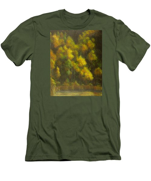 Aspens And Cattails Men's T-Shirt (Slim Fit) by Jack Malloch