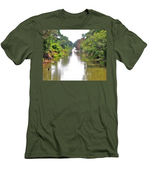 Assawoman Canal - Delaware Men's T-Shirt (Athletic Fit)