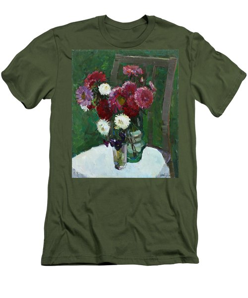 Asters In The First Frosts Men's T-Shirt (Athletic Fit)