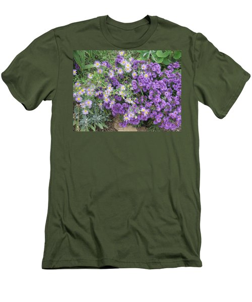 Asters Light And Dark Men's T-Shirt (Athletic Fit)